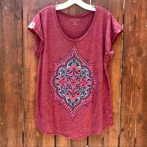 Lucky Brand Floral Print Tee Shirt